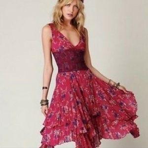 NWT Free People Pink One Wisteria Lattice Dress